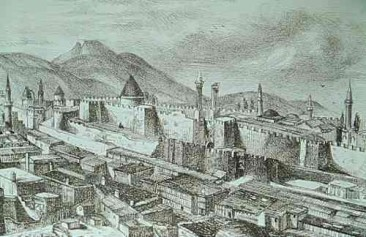 Drawing of the town of Garin
