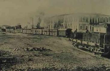 The railway station of Samson