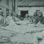 Armenian women working the cotton in Hajen