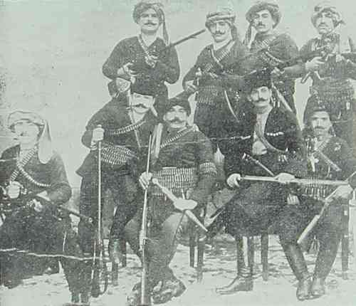 Group of fedayeen (partisans) in Kesaria