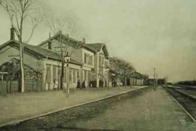 The railway station of Andrinople