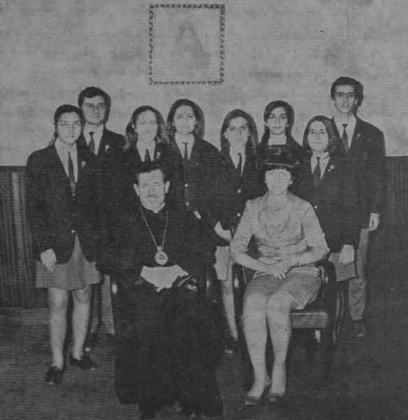 Archbishop Abadian of Argentina and Silva Hampartsumian – 1969