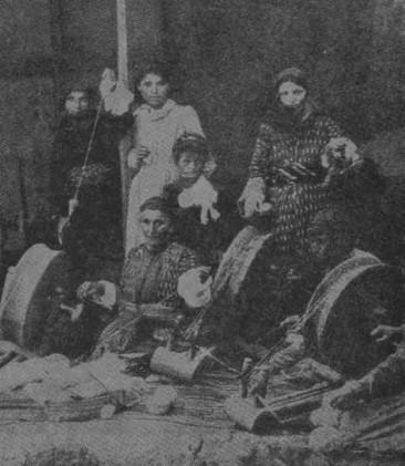 Armenian women spinning in Aleppo – 1924