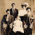 Sarkis, Bahar and Zaruhi Malkasian - Whitinsville 1910