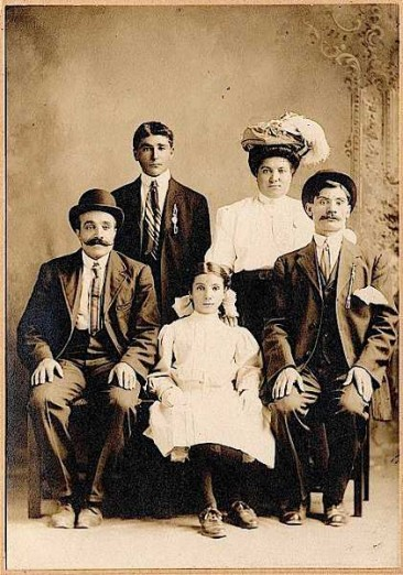 Sarkis, Bahar and Zaruhi Malkasian – Whitinsville 1910