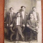 Unidentified Armenian men in Whitinsville - 1910