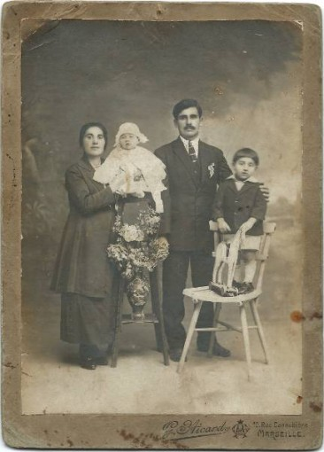 Dikran Baghtchedjian with his wife Rose Taspasian – Marseille 1927