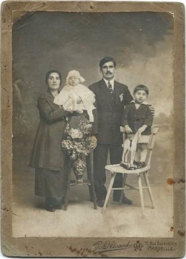 Dikran Baghtchedjian with his wife Rose Taspasian – Marseille 1927