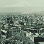 View of Erevan and Ararat Mountain in the 1960s