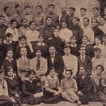 Armenian Choir of Tiflis. At the center, Spiridon Melikian (1880 - 1933)