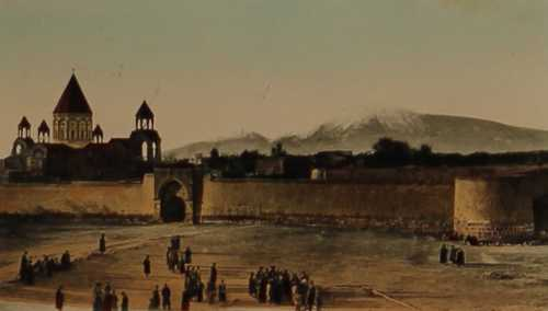Etchmiadzin and Ararat Mountain