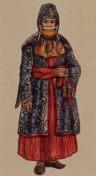 Armenian costume of Agulis