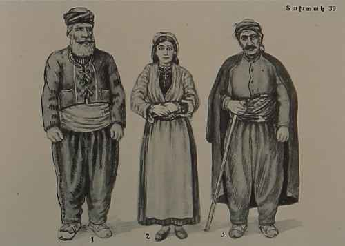 Armenian costumes of Garin and Mush