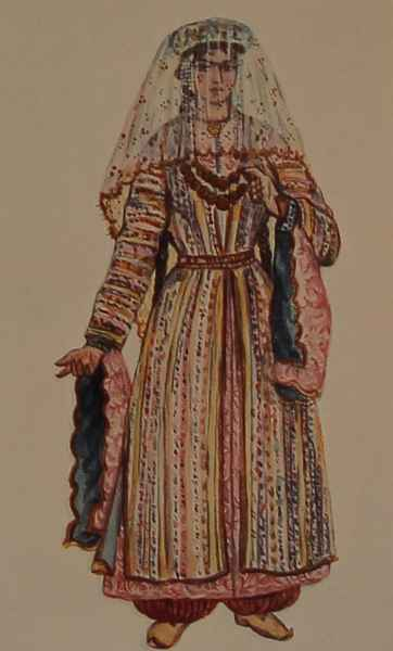 Armenian costume of Partsr Hayk