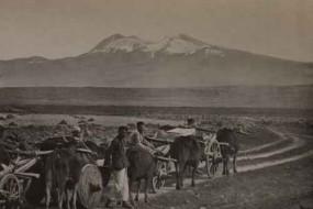 Aragats from the Shirak plain