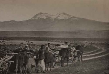 Aragats from the plain of Aleksandropol