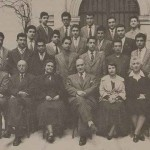 Getronagan students of the 1955-1956 promotion with their director H. Hampartsumian