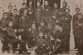 Students of the Getronagan Armenian High School