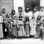 Levon Yotnakhparian with Armenian orphans