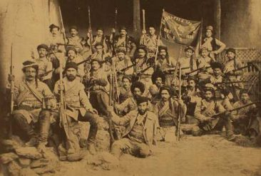 Vazken fedayee (partisan) group in Van, 1896