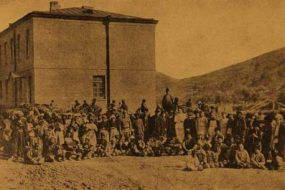 Armenian refugees in Dilijan