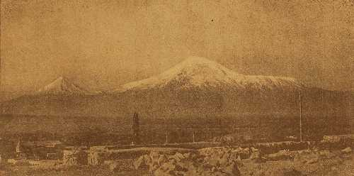 Ararat mountain, from Eastern Armenia