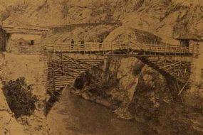 The Wooden Bridge on Yeprad River near Akn