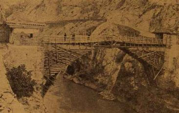 The Wooden Bridge on Yeprad River near Akn