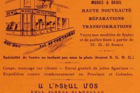Advertisement A l'Idéale Mode – 1932