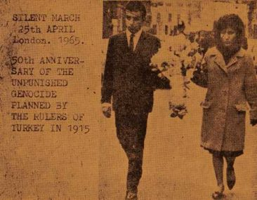 50th anniversary of the Armenian genocide in London