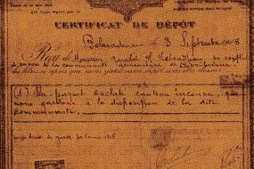 Deposit certificate for the Armenian Union of Sivrihisar – 1915