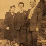 Mr and Mrs Tavit Chatalian with their son Gilbert - Paris