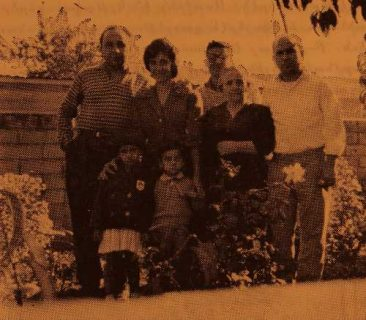 Serpuhi Durghudian with her family, and Mr Varujan Keleshian
