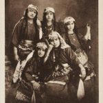 Armenian young women postcard - Kharpert 1910