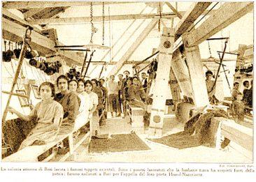 Weaving factory in Nor Arax (Italy) – 1924