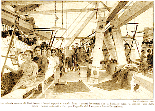 Weaving factory in Nor Arax (Italy) – 1924