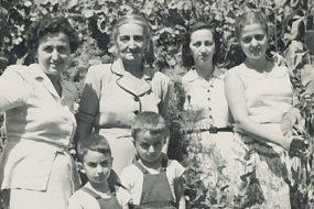 Anahid Balian and kids, Zarmanian family – early 1950s Chtaura (Lebanon)