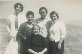 Arpi Kazanjian with relatives