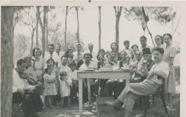 Arshag Kaloustian with friends