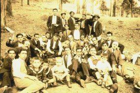 Yeranui Kaloyan's grandfather with friends near Mexico City – 1927