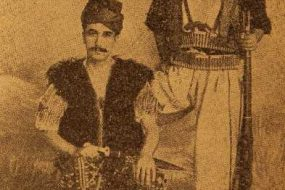 Armenian men wearing costumes of Sasun