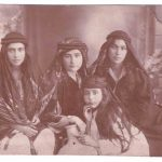 Vartanoush Assadourian with her friends in Aleppo - 1925