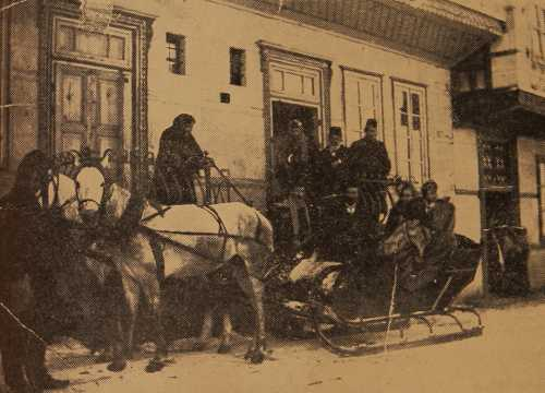 Kavafian and Madatian families going for a sleigh ride