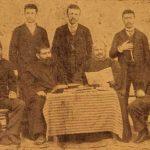 Srpazan Hayr Ormanian and Yeghishe Tourian with Armenian intellectuals of Marash