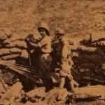 Armenian Legionnaires Lieutenant Vahan Portukalian with a soldier