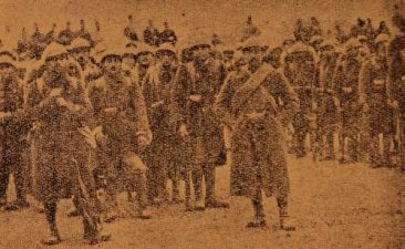 The arrival of Armenian Legionnaires in Giligia (Cilicia)