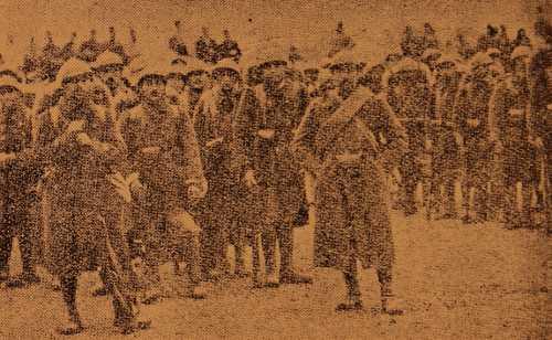 The arrival of Armenian Legionnaires in Giligia (Cilicia)