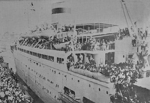 Transfer of France Armenians to Soviet Armenia on the Rossia ship