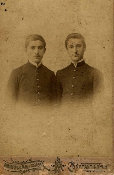 Students from Artvin in Constantinople, Akinian family