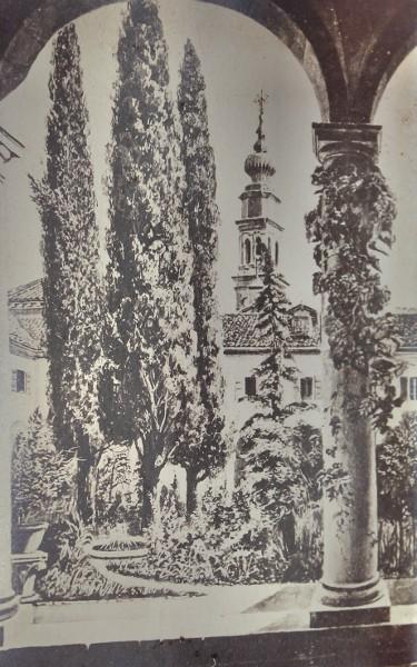 San Lazzaro Armenian monastery, court garden